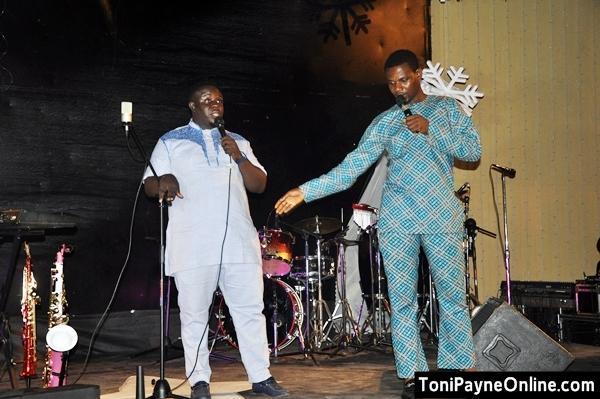 Comedians Elenu and MC Shakara