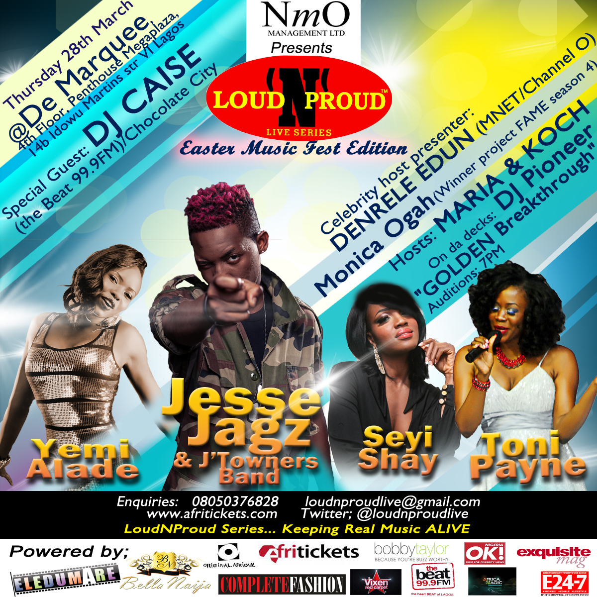 Toni Payne, Jesse Jags, Seyi Shey, Yemi Alade for Loud and Proud Easter Edition