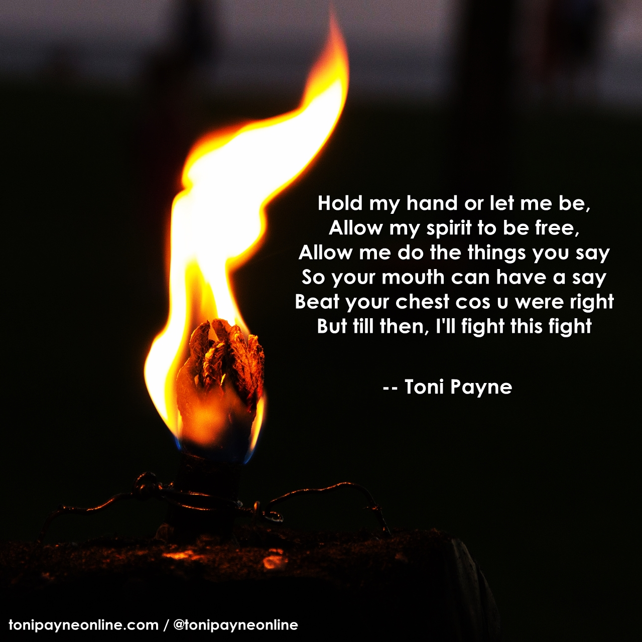 Poetry Quote - let the headline - Toni Payne