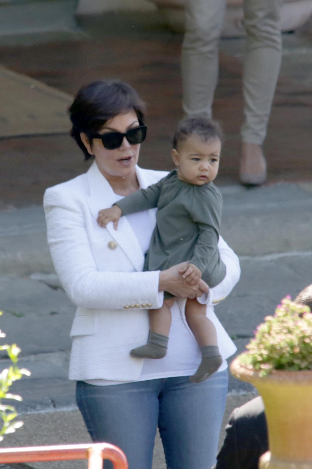 The Kardashian Family leaving Paris
