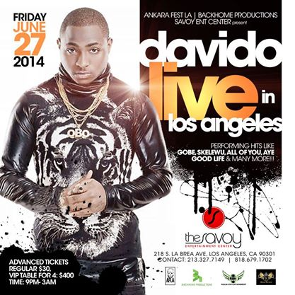 event - davido - los angeles