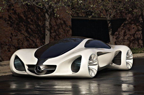 Mercedes benz biome images of a futuristic car for Mercedes benz biome