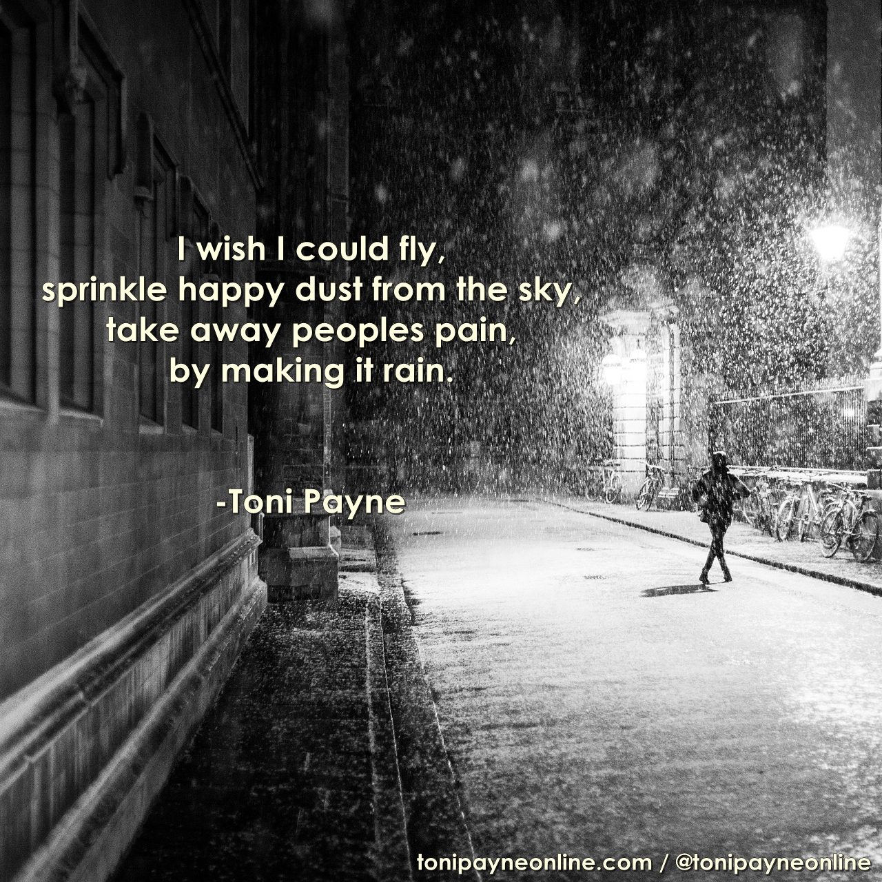 Poetry Quote - I Wish - Toni Payne