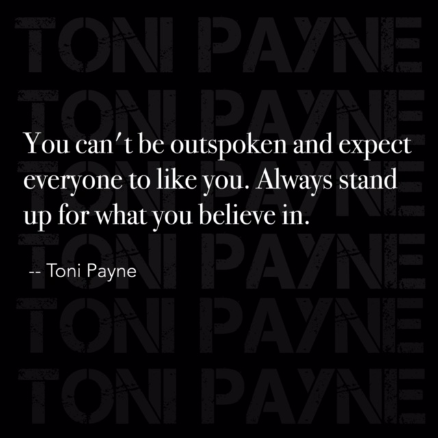 quote about life - you cant be outspoken
