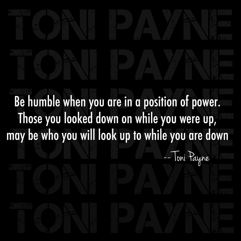 quote about success and power be humble