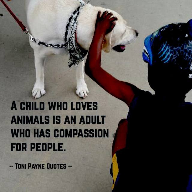 Quote about kids with animals