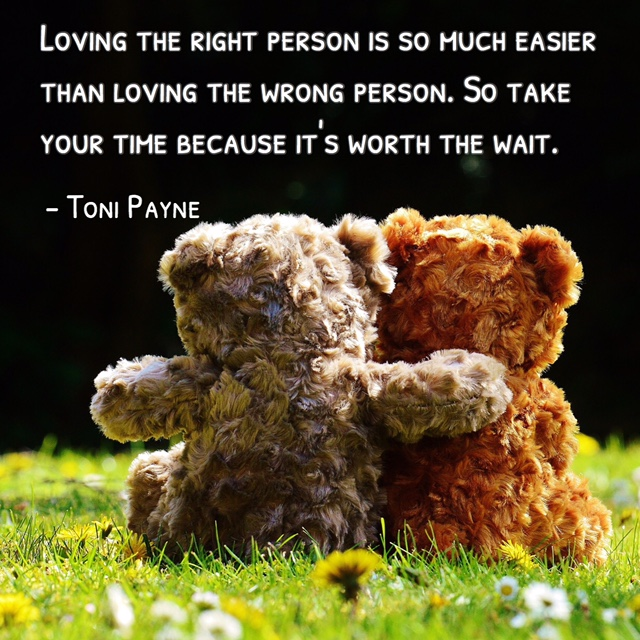 Quote about loving the right person