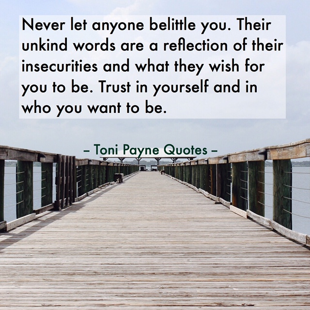 Quote about people who try to belittle you