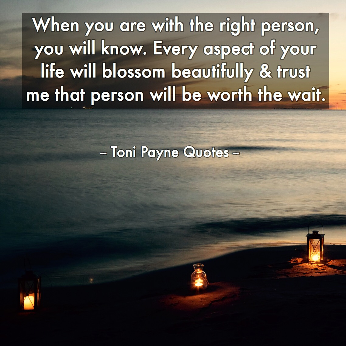 quote about falling in love with the right person