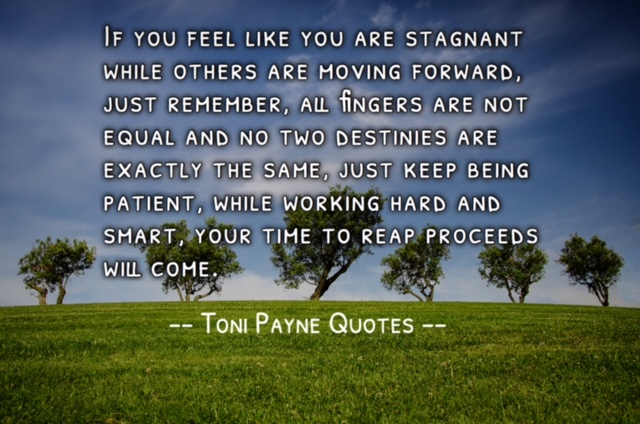 Quote about patience success and envy - Toni Payne