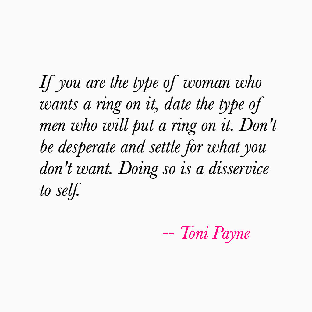 Quote about Commitment and Wanting Marriage